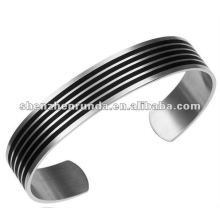 2012 Lastest fashion accessories high polish bangle 316l stainless steel men's bracelet stripe boys bangle