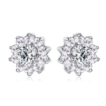 Women Flower Wedding Stud Earrings Bijouterie (CER0204-B)