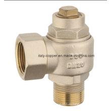 ISO9001 cerró la válvula de bola única de las virutas de cobre amarillo (AV4009)