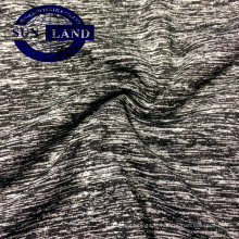 Tissu jersey 100 polyester aspect mélange de polyester