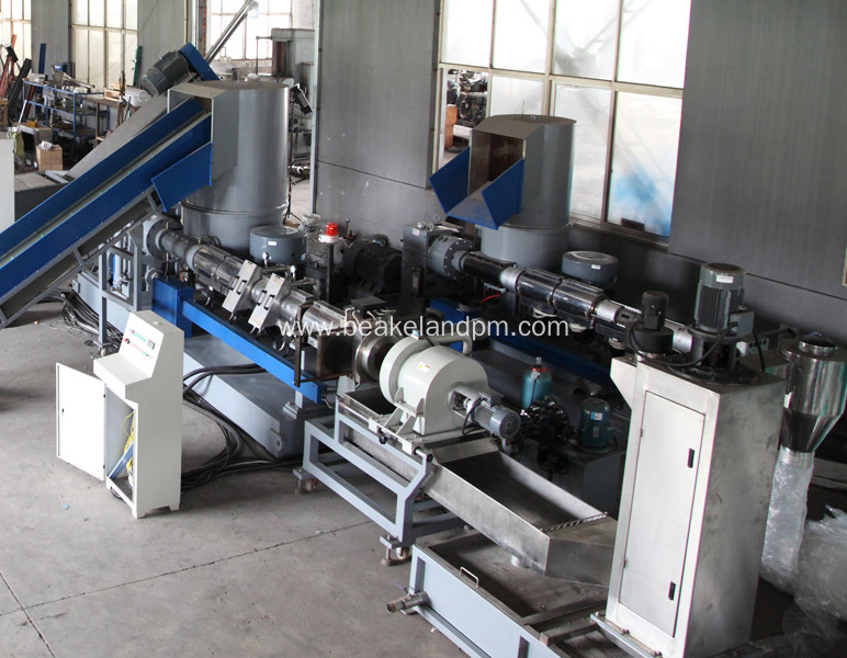 double stage PE bags pelletizing machine