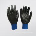 Neoprene Fully Coated Purple Knit Wrist Glove (5340)