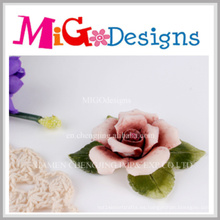Candelero decorativo de la flor de cerámica de moda