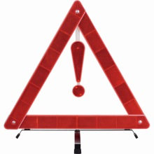 road traffic emergency car triangle warning sign
