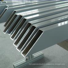 Matériau de construction en alliage d'aluminium usiné