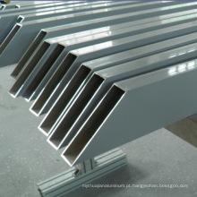 Material de construção de liga de alumínio usinado