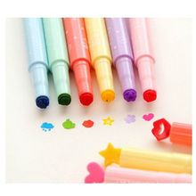 Pronotional Candy Color Seal Fluorescent Pen, Multi Color Marker Pen
