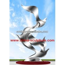 Escultura de la escultura al aire libre del arte del acero inoxidable escultura famosa