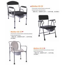 Foldable Chrome Steel Wheel Chair with Toilet (XT-FL448)