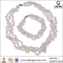 Collar de moda y conjunto de joyas pulsera