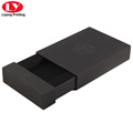 Printed luxury special shape of black drawer box with foam