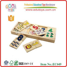 matching numbers to shapes math with wooden numbers educational puzzle