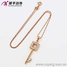 32084 Hight quality plated 18k gold color necklaceand pendant,Key shape pendant jewelry