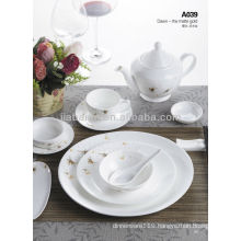 A033 New design bone china dinner set made in china