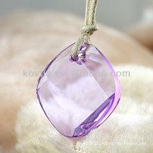 Pingente de diamante de cristal roxo transparente venda quente