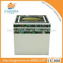 Natürliche Handwerk Abalone Shell Tissue Box für dekorative Ornament