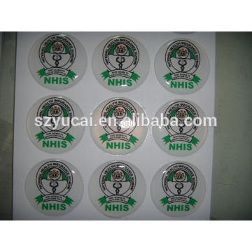 domed epoxy sticker