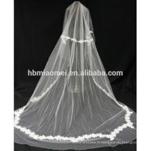Dentelle tissu de haute qualité fleur garniture dentelle voile mariage pour la mariée
