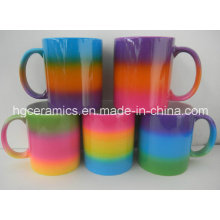 Regenbogen-Farben-Becher, Regenbogen-Farben-Überzug-Becher