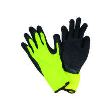 10g Hi-Viz Acrylic Liner Glove with Latex Coated CE Glove