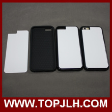 Sublimation 2D TPU + 2 PC en 1 Etui de téléphone Mobile pour l'iPhone 6 Plus /6s Plus