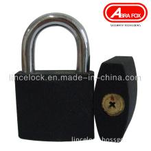 Grey Iron Padlock, Black Iron Padlock with Cross Key (303A)