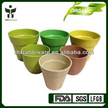 Planta de fibra de flores Pot Biodegradable Flor de bambú casco de arroz