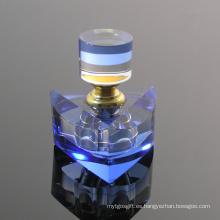 Botella de perfume de cristal azul para el ornamento de sala de oficina (JD-XSP-140)