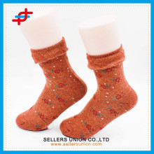 Hot sale newly design popular women flowers sock