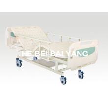 A-81 Cama de hospital móvel de duas funções manual