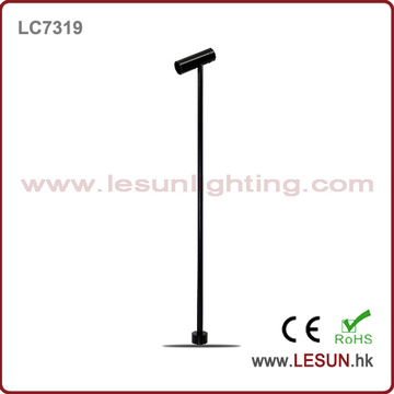 OEM Height Black/ Silver 1W LED Standing Jewelry Showcase Lighting LC7319