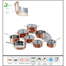 Kitchenware 3 Layers Copper Cookware Set