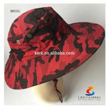 Tarnmuster-Hysteresen-Kappen-Qualitätsart und weise im Freiensportgroßverkauf-Wannenhut mit Schnur