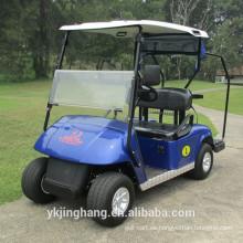 carrito de golf eléctrico de dos plazas con soporte para bolsa de golf