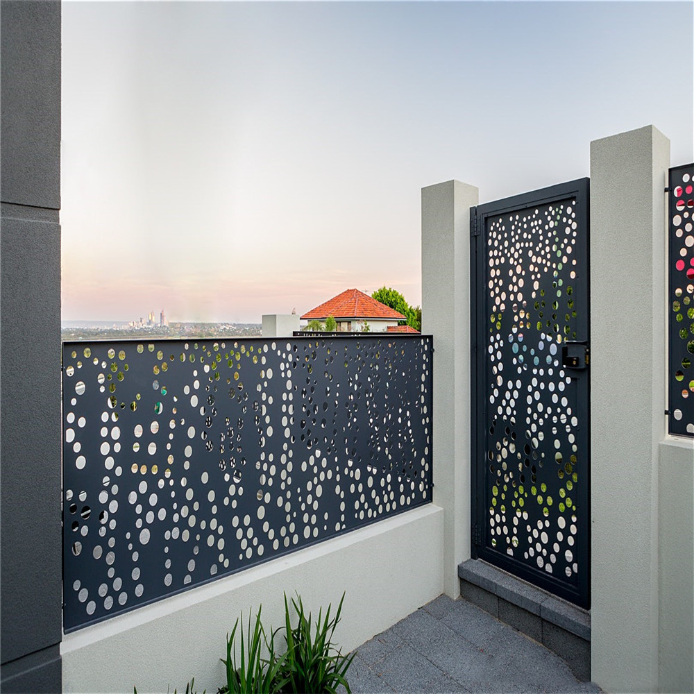 Laser Cut Metal Railing dan Gate Panel