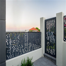 Laser Cut Metal Railing And Gate Panel