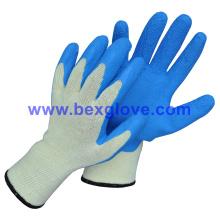 10 Gauge Polyester Liner, Latex Coating, Foam Finish Handschuh