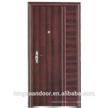 Porte nominale à feu d'acier utilisée pour porte extérieure