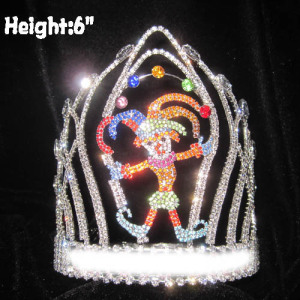 Wholesale Custom Crystal Clown Pageant Crowns