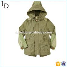 Jaqueta com jaqueta de capuz para bolso de carga de crianças e estilo para atacado