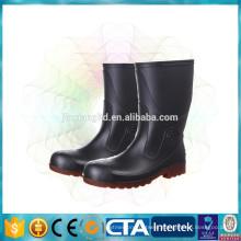 pvc anti slip matte half rain boots