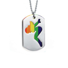 Top venda de prata pingentes de jóias, tag dog esporte pingentes design
