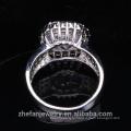 оптовая костюм ювелирные изделия большой белый и круглый кубический циркон Рождественский кольцо