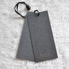 Hangtag de papel con el gránulo de la caída del acrílico