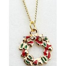 Jóias de natal / natal colar / pingentes de natal (xjw13355)