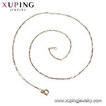 44146 Promover preço estilo moderno breve projeto de jóias de cobre liga de ouro banhado a cadeia unisex colar