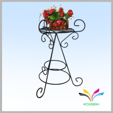 Outdoor hanging iron flower pot stand for garden supplies