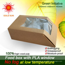 Food packaging Paper box cartons With Antifogging Window