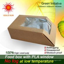 Embalagem de alimentos Caixas de papelão com janela anti-embaciamento