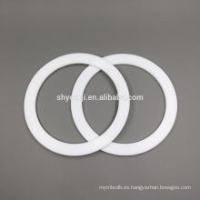 sello de teflón PTFE de grado alimentario o junta de sello de PTFE blanco Viton FKM anillo plano arandelas de juntas